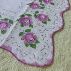 1970s Floral Cotton Kerchief